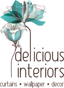Delicious interiors- Curtains, wallpaper, decor